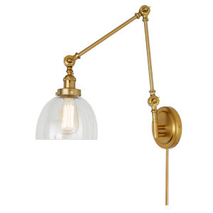 Soho Madison Satin Brass One-Light Triple Swivel Swing Arm Wall Sconce