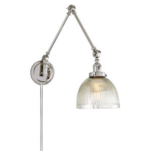 Soho Madison Polished Nickel One-Light Swing Arm Wall Sconce