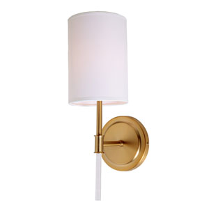Hudson Satin Brass One-Light Wall Sconce