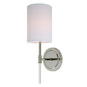 Hudson Polished Nickel One-Light Wall Sconce