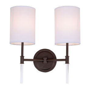 Hudson Oil Rubbed Bronze 14-Inch Two-Light Wall Sconce