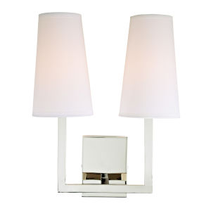 Sullivan Polished Nickel 13-Inch Two-Light Wall Sconce