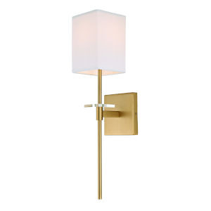 Marcus Satin Brass Five-Inch One-Light Wall Sconce