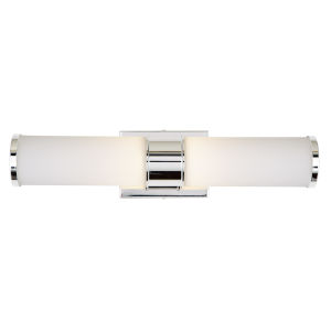 Fairview Polished Nickel Two-Light LED Bath Vanity