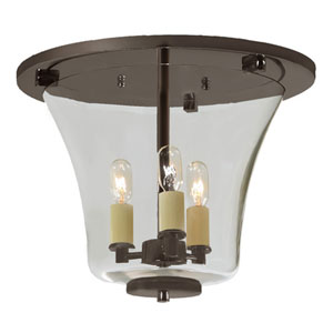 Greenwich Oil Rubbed Bronze Three Light Flush Ceiling Mount