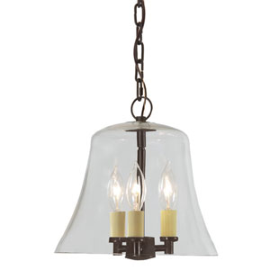 Greenwich Oil Rubbed Bronze Three Light Hanging Bell Pendant