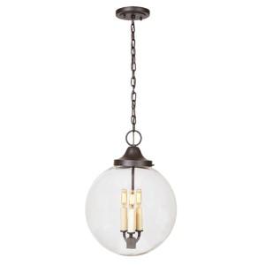Boston Oil Rubbed Bronze Three-Light Hanging Globe Pendant