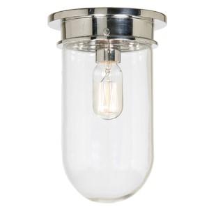 Boston Polished Nickel One-Light Flush Mount