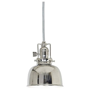 Union Square Polished Nickel Five-Inch Mini Pendant with Metal Shade