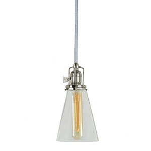 Union Square Polished Nickel 4.75-Inch Mini Pendant with Clear Glass Shade