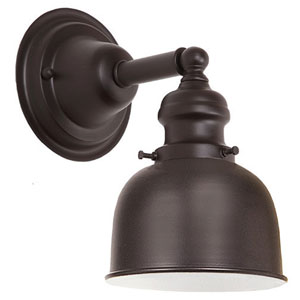 Union Square Oil Rubbed Bronze Five-Inch Wall Sconce with Metal Shade