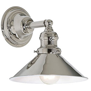 Union Square Polished Nickel Eight-Inch Wall Sconce with Metal Shade