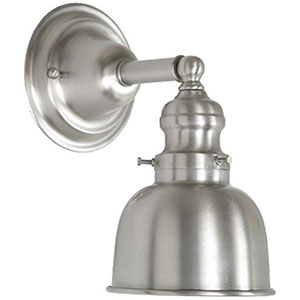 Union Square Pewter Five-Inch Wall Sconce with Metal Shade