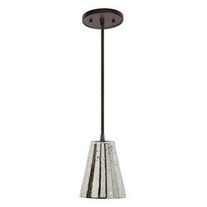 Grand Central Polished Nickel Mini Pendant with Antique Mercury Cone Shade