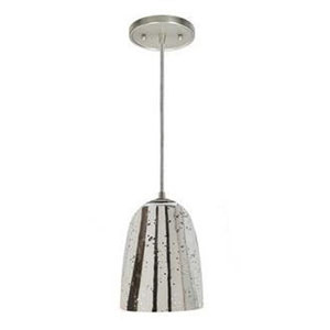 Grand Central Polished Nickel Six-Inch Mini Pendant with Antique Mercury Ramona Shade