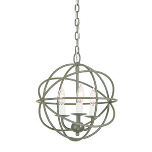 Globe Three Light Chandelier