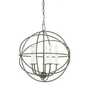 Globe Five Light Chandelier