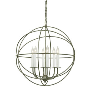 Globe Six Light Chandelier