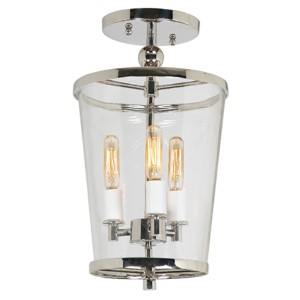 Charleston Oil Rubbed Bronze Three-Light Small Semi Flush Mount