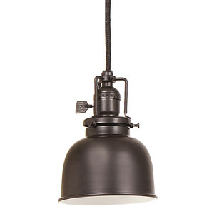 Union Square Oil Rubbed Bronze Pendant w/ 5-Inch Metal Shade