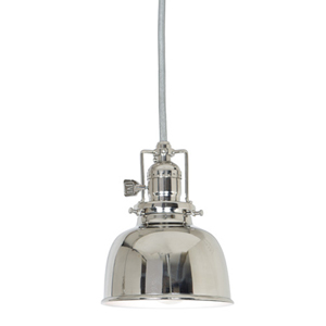 Union Square Polished Nickel One-Light Pendant with Metal Shade