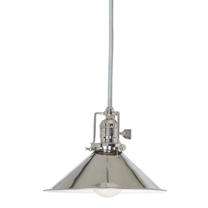 Union Square One-Light Pendant with Polished Nickel Shade