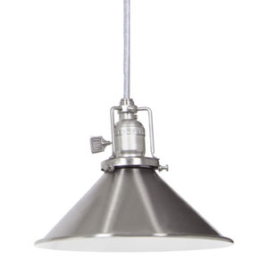 Union Square Pewter Pendant w/ 8-Inch Metal Shade