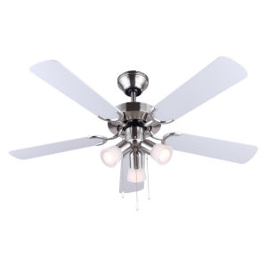 Omni Brushed Pewter 42-Inch Three-Light Ceiling Fan