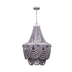 Kipling Gray 19-Inch Six-Light Chandelier