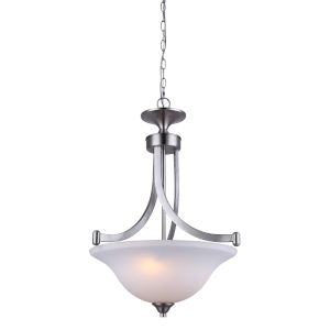 Rue Brushed Nickel Three-Light Chandelier