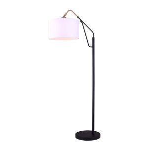 Winston Black and Gold One-Light Floor Lamp