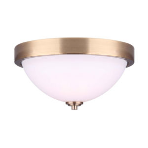 River Gold Two-Light Flush Mount
