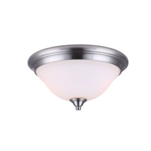 Rue Brushed Nickel Two-Light Flush Mount