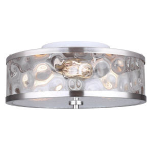 Cala Brushed Nickel Three-Light Flush Mount