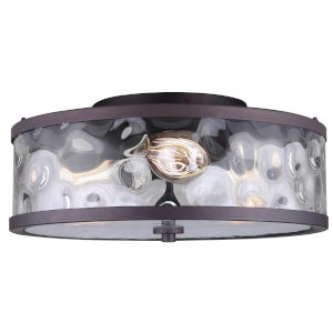 Cala Oil Rubbed Bronze Three-Light Flush Mount