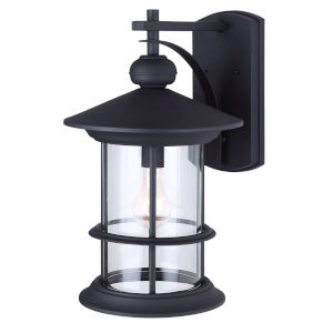 Treehouse Black One-Light Outdoor Wall Mount