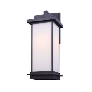 Akello Black Eight-Inch One-Light Outdoor Wall Sconce