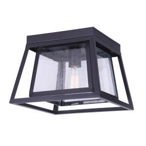 Grove Black One-Light Outdoor Flush Mount