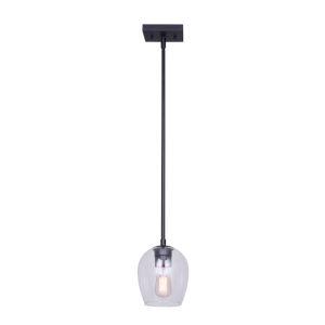 Cain Black One-Light Mini Pendant