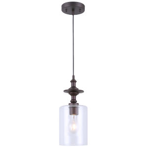 York Oil Rubbed Bronze One-Light Mini Pendant