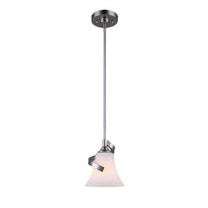 Rue Brushed Nickel One-Light Mini Pendant