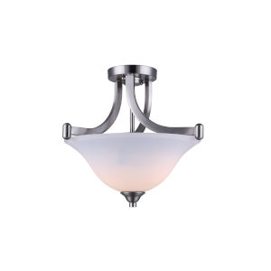 Rue Brushed Nickel Two-Light Semi-Flush Mount