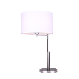 Perin Brushed Nickel One-Light Table Lamp