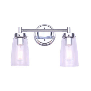 Rory Chrome Two-Light Bath Vanity