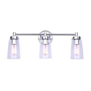 Rory Chrome Three-Light Bath Vanity