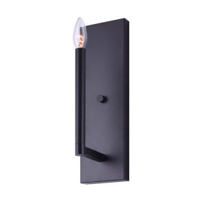King Black One-Light Wall Sconce