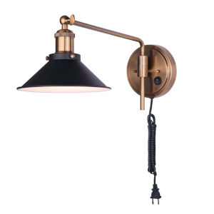 Tally Black and Gold One-Light Wall Sconce