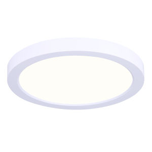 Low Profile White Six-Inch LED Flush Mount