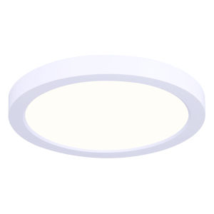 Low Profile White Seven-Inch LED Flush Mount