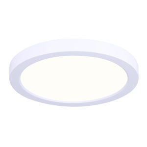 Low Profile White Nine-Inch LED Flush Mount